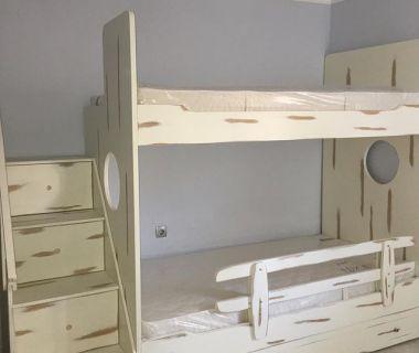 Κρεβάτι κουκέτα  βαμμένη πατίνα