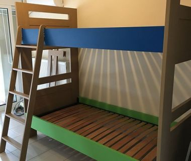 Κρεβάτι κουκέτα απο MDF ξυλο βαμμένο