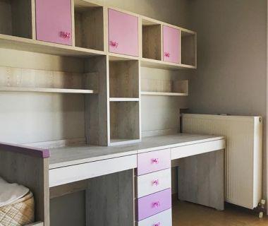 Παιδικό γραφείο δύο θέσεων απο μελαμίνη